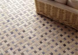 porcelain basket weave tile mosaic floor blue dot riskier