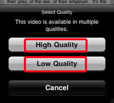 Download videos to your iPhone