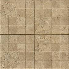 Floor Tile Texture Seamless Containing Square Beige Tiles With Designs In Surface
