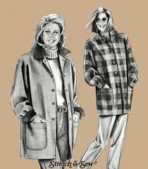 womens barn coat pattern barn jacket pattern stretch sew 1030 ann