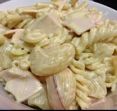 pates au blanc de poulet mix de pâtes à la crème moutarde et blanc de poulet recette de