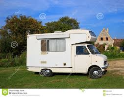 Old Motorhome Stock Photo Image Of Country Rural Camp