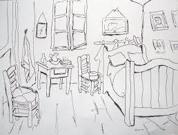 gogh s schlafzimmer 1888 zeichnen mit martina wald