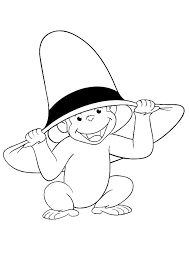 Fantastic Curious George Coloring Pages Printable With And