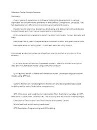 Selenium Resume | Ckum.ca