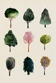 Simple Watercolor Trees Trish W