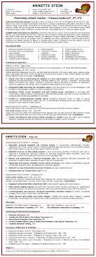 Elementary Teacher Resume Examples 2018