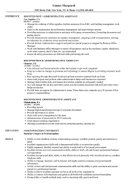 Download Receptionist Administrative Assistant Resume Sample As Image File