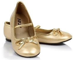 ballet flat gold child shoes buycostumes com