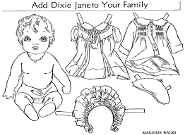 Baby Doll Colouring Pages