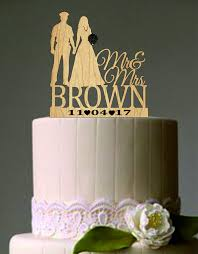 Wedding Cake Topper Silhouette Police Groom and Bride ficer Mr
