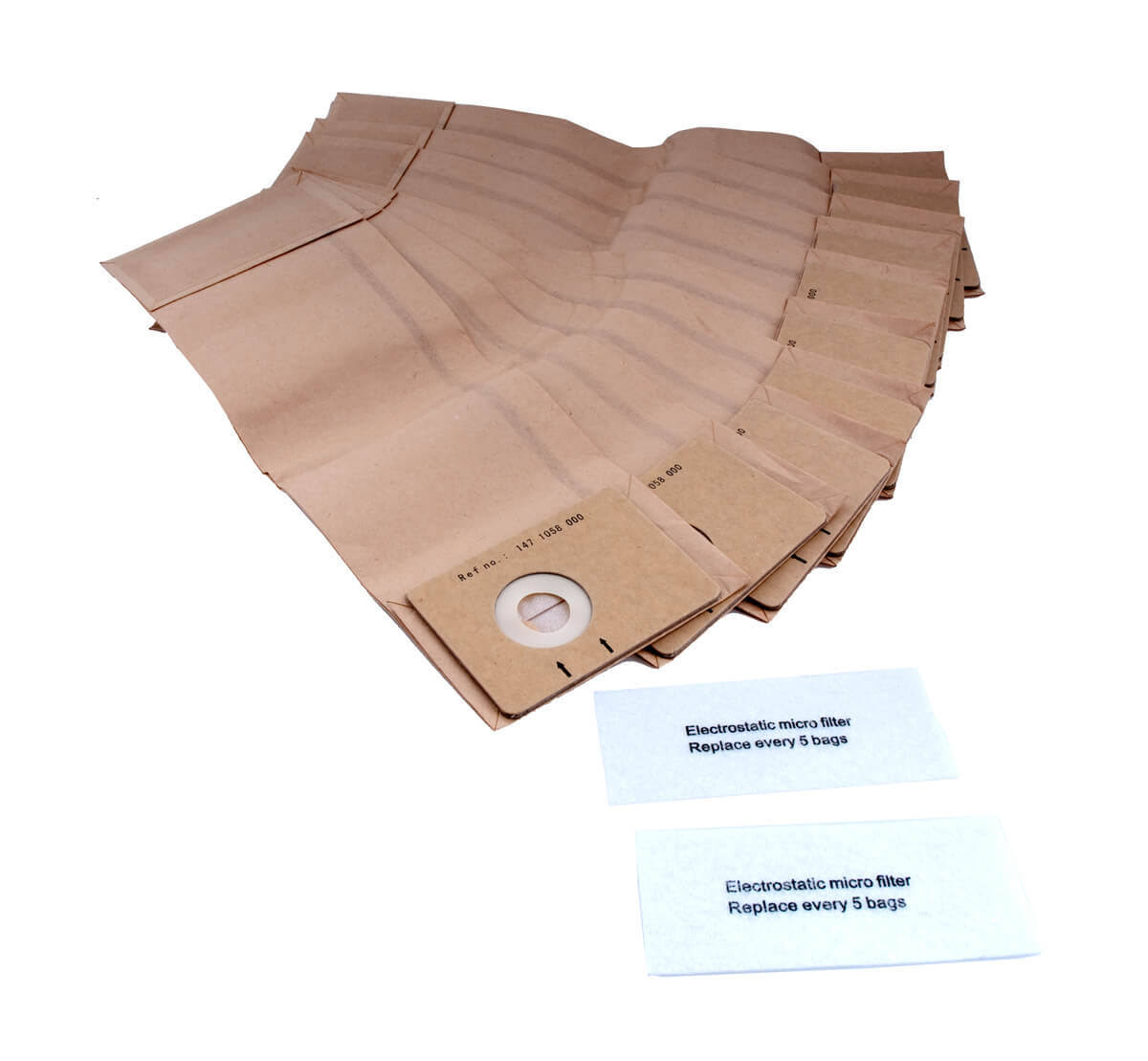 "Green Klean Carpetmaster Replacement Vacuum Bag and Filter - 8""x3"""