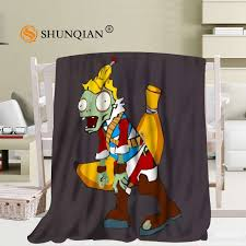 Custom Plants Vs Zombies Cartoon Blanket Soft Fleece DIY Picture Decoration Bedroom Size 58x80Inch50X60Inch40X50Inch A710 In Blankets From Home Garden