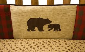 northwoods 3pc crib bedding set at the trendy bed