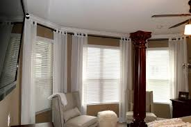 Jcpenney Silver Curtain Rods by Best Bay Window Curtain Rod Ideas For Install Bay Window Curtain