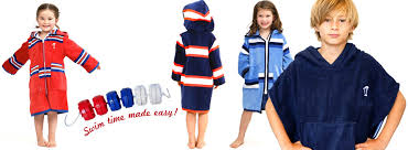 Hooded Beach Robes And Swim For Children