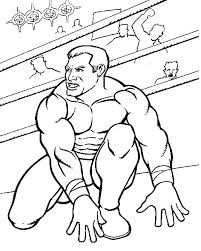WWE Wrestling Coloring Page To Print Out And Color Picture Very Strong