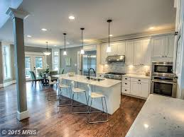 kitchen with columns high ceiling in bethesda md zillow digs