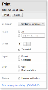 If You Need More Advanced Options Or System Print Settings Override Your Google Docs Click Using Dialog