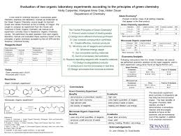 Evaluation of two organic laboratory experiments according to the