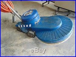powr flite 20 2000 rpm high speed floor buffer shp works good with