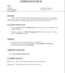 Resume For Computer Science Teacher Fresher Sample Freshers Fresh Jobs And Free Samples Intended