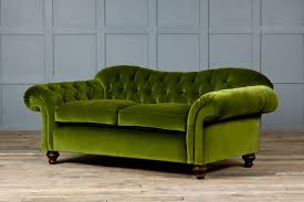 Crate And Barrel Margot Sofa by Green Velvet Sofa