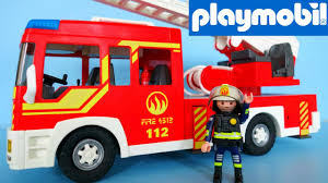 100 Playmobil Fire Truck Engine With Light And Sound 5362 Unboxing Family