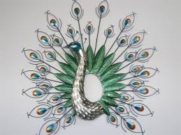 Home Decor Peacock At Wall Beautiful