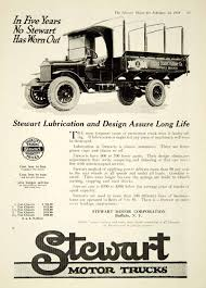 100 Trucks Paper 1919 Ad Stewart Motor Buffalo NY Transportation Vehicle
