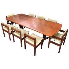 British Midcentury Teak Dining Table And 8-Leather Chairs By Gordon ... Danish Mondern Johannes Norgaard Teak Ding Chairs With Bold Tables And Singapore Sets Originals Table 4 Uldum Feb 17 2019 1960s 6 By Greaves Thomas Mcm Teak Table Niels Moller Chairs Etsy Mid Century By G Plan Round Ding Real 8 Seater Jamaica Set Temple Webster Nisha Fniture Sheesham Wooden Balcony Vintage Of 244003 Vidaxl Nine Piece Massive Chair On Retro