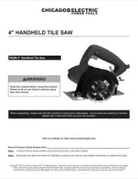 harbor freight tile saw manual harbor freight tools 4 in handheld dry cut tile saw