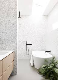 White And Black Terrazzo With Little Spots Looks Very Contemporary Clean