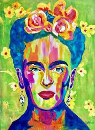 Saatchi Art Frida KAHLO Painting Colorful Famous Artist Icon Historical People Canvas Artwork For Sale Large Mexico Mexican