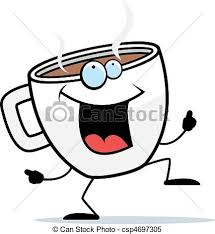 Coffee Dancing A Happy Cartoon Cup Of And Smiling