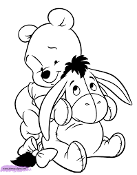 Baby Eeyore Coloring Pages Ba Pooh Disney Book Free Online