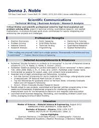 Technical Writer Resume Examples S Certificati