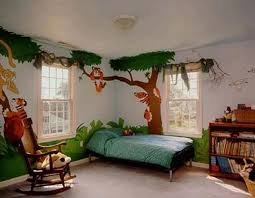 Jungle Small Bedroom Design Ideas 8