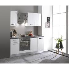 singleküche 195 cm mit elektrogeräten weiß