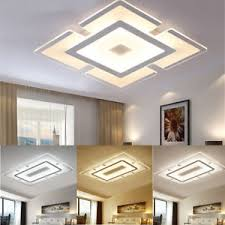 modern simple square acrylic led ceiling light living room bedroom