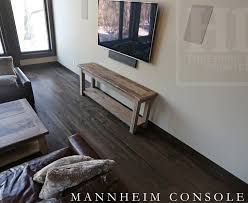 Details 80 Console Hall Sofa Table 18 Deep 34 Height Greytone Treatment To Preserve Tones Of Unfinished Bottom 1 Reclaimed Grainery Board Shelf