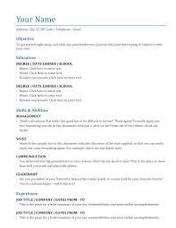 Blue Grey Resume