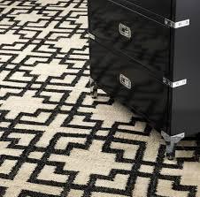 casa padrino wohnzimmer teppich naturfarben schwarz 300 x 400 cm handgewebter luxus teppich