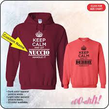 keep calm and let custom name handle it sweatshirt or hoodie