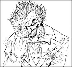 The Joker Colouring Pages Anfuk Co Inside Coloring