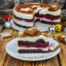 weihnachtliche schwarzwälder himbeer lebkuchen torte