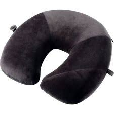 Go Travel E7 Flat Back Design Memory Foam Neck Pillow Black 457KK