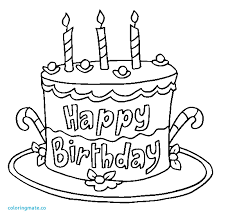 Happy Birthday Coloring Page Elegant Colour Drawing Free Wallpaper Happy Birthday Cake for Kid Coloring Drawing Free Wallpaper Coloriafes Disney