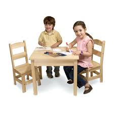 Wooden Table And Chair Set Solid Wood Table Chairs 3 Piece Set Child ...