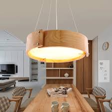 neue nordic massivholz anhänger licht für home beleuchtung moderne hängende le holz lenschirm esszimmer restaurant leuchte